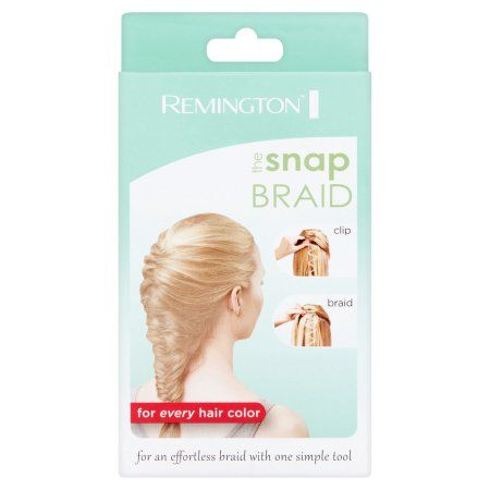 Remington The Snap Braid Fishtail Hair Braiding Tool, Girl's, Black