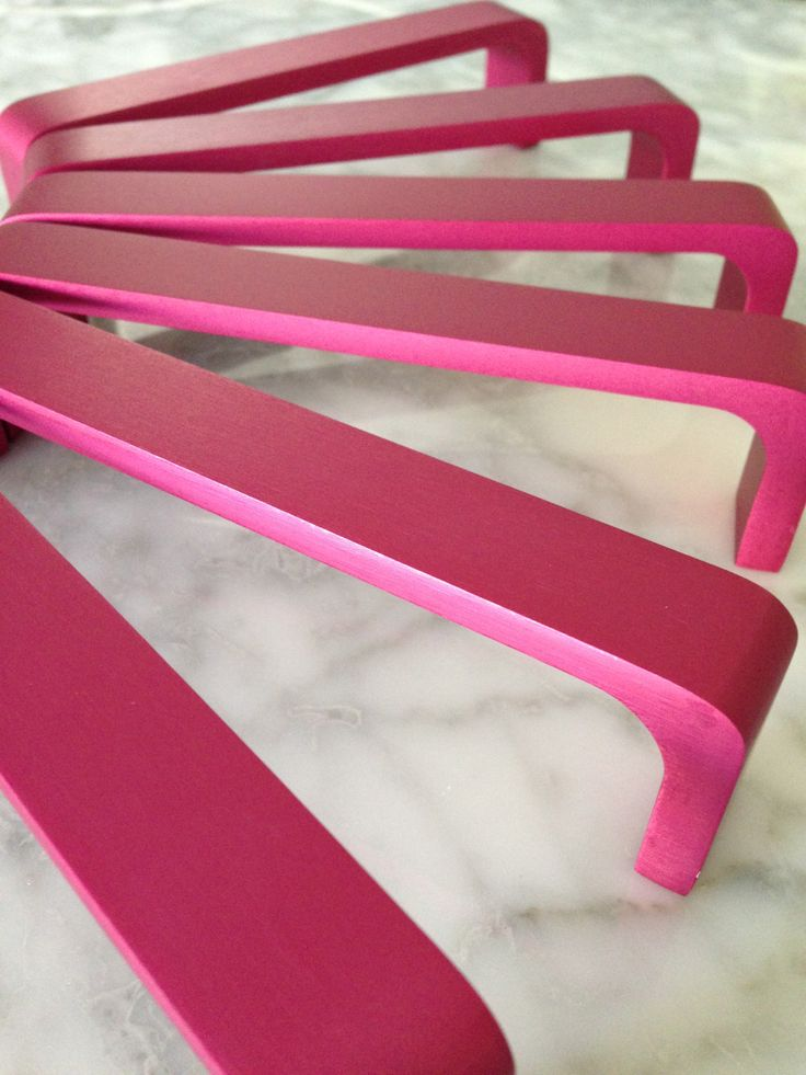 Tuxedo Handle - Berry Pink - made from solid anodised aluminium www.indexandco.co