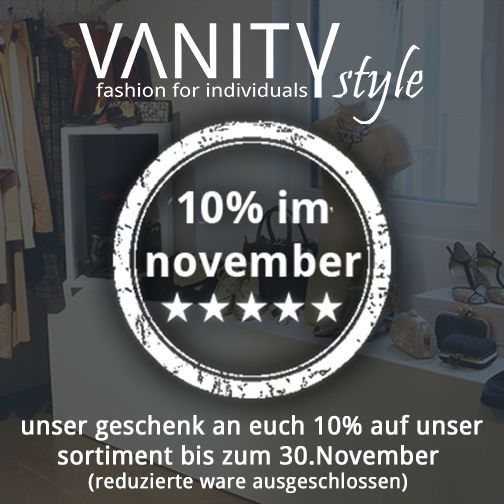 +++ 10% im november +++  an alle fashionherzen, wir feiern den umbau unseres citystores in balingen und schenken euch im november 10% auf unser gesamtes sortiment (bereits reduzierte ware ausgeschlossen).  wenn euch das gefällt, dann liked und teilt diesen beitrag bitte.  eure VANITYstyle crew  #Balingen #Bisingen #Hechingen #Albstadt #fashionbalingen #fashionalbstadt #fashion #lifestyle #fashionstyles #mode #vanitystyle #tübingen #reutlingen #rottenburg #shopping #stuttgart