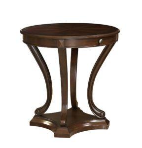 Large Round Pedestal Side Table