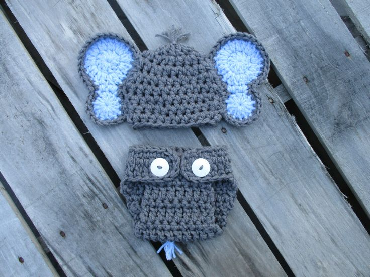 FREE SHIPPING-Newborn Boy Elephant Hat With Diaper Cover Set,Crochet Elephant Outfit,Handmade,Baby Elephant Costume,Newborn Photo Prop by Etvy on Etsy https://www.etsy.com/listing/221584280/free-shipping-newborn-boy-elephant-hat