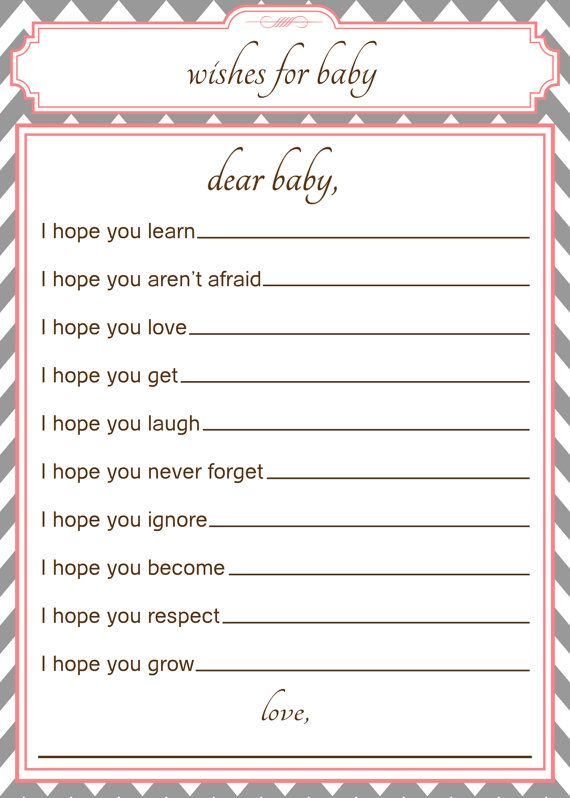25 best ideas about baby wishes on pinterest wishes for for Wishes for baby template printable