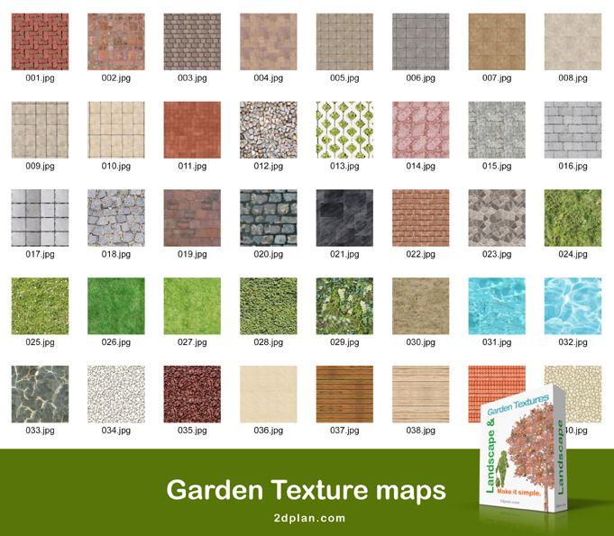 Garden Plan Texture Maps Images For Rendering Garden Plans