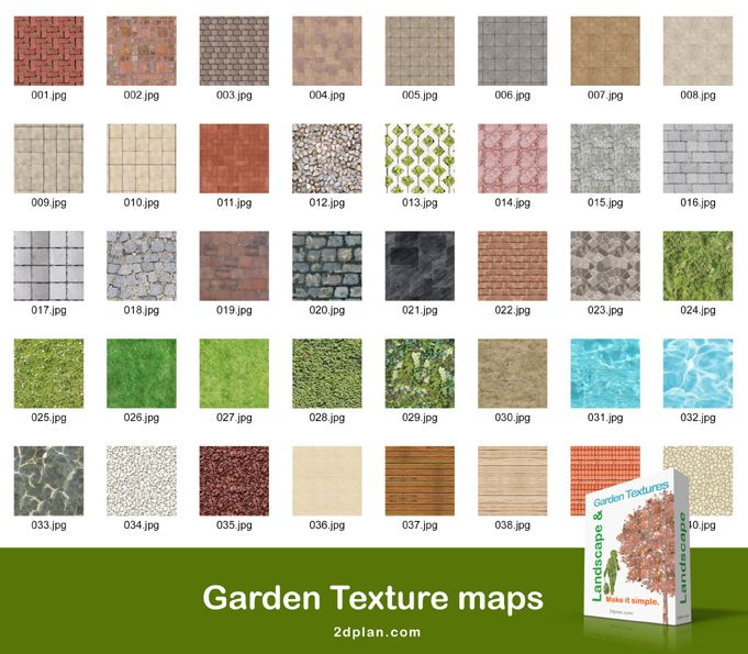 Garden Plan Texture Maps Images For Rendering Garden Plans