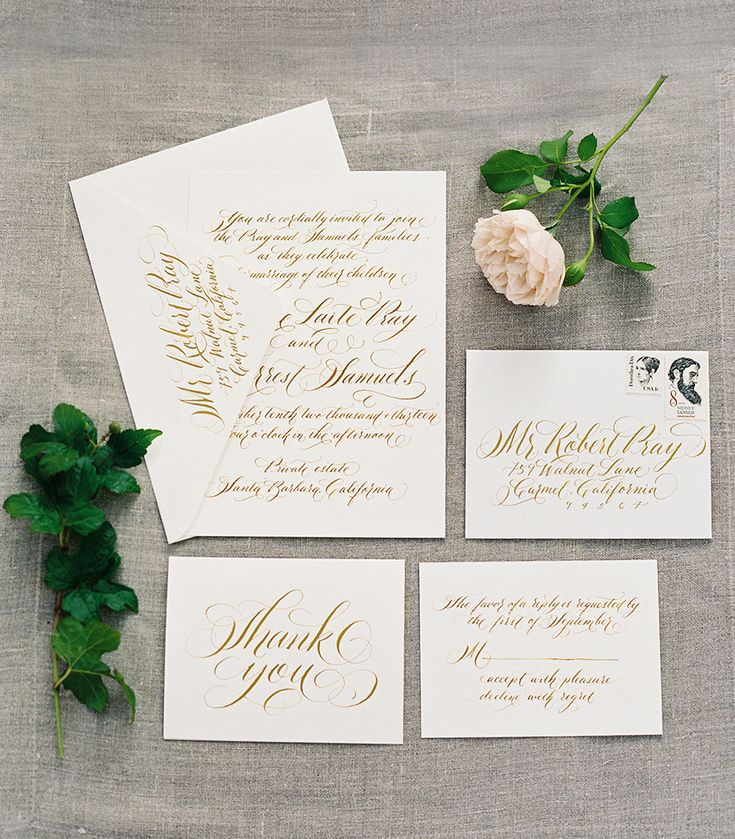 #calligraphy  Photography: Rylee Hitchner - ryleehitchnerphotography.com  View entire slideshow: Runway to Real Wedding: Classic on http://www.stylemepretty.com/collection/235/