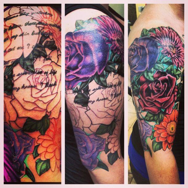Flower tattoo sleeve | Tattoos | Pinterest | Sleeve ...