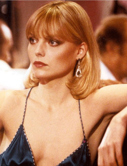 Michelle Pfeiffer in Scarface. EPIC CONTOURING!