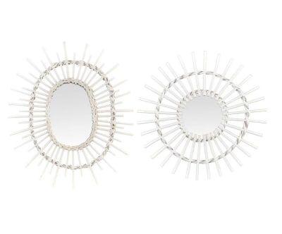 2 Miroirs DANA - blanc