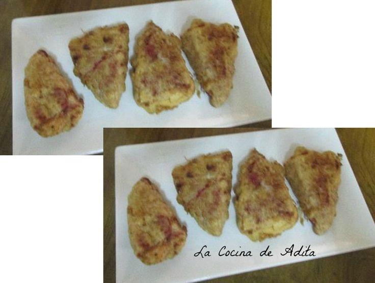 La Cocina de Adita: Pimientos rellenos, con atún y langostinos