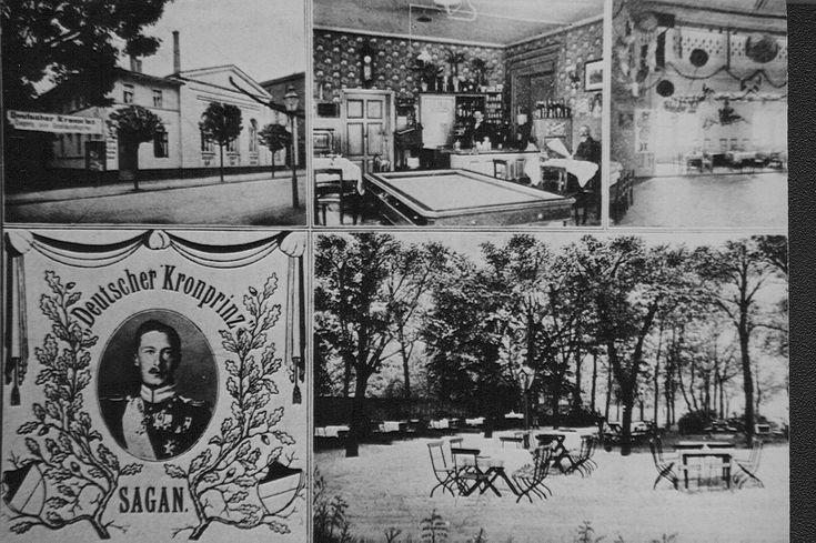 ul. Dworcowa (Bahnhofstrasse, Dzierżyńskiego Feliksa), Żagań - 1922 rok, stare zdjęcia