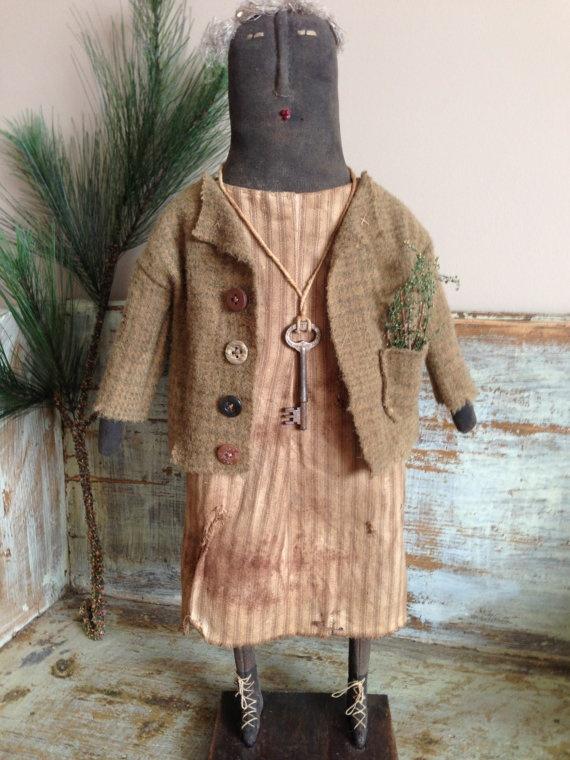 OAK Primitive Standing Doll by VillagePrimitivesbyM on Etsy, $69.00