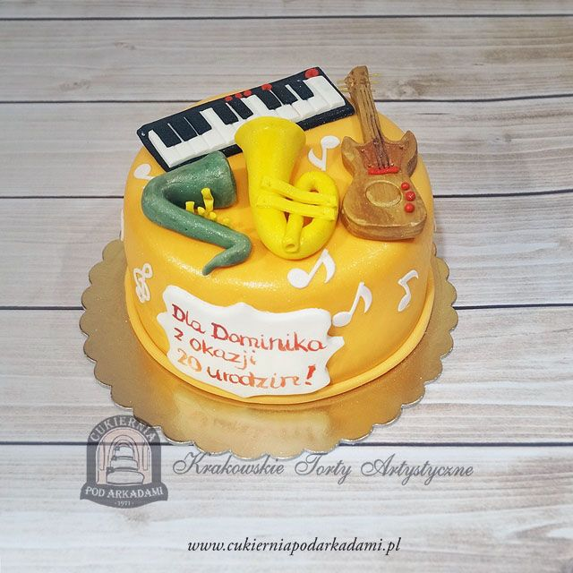 77BA. Tort dla muzyka. Music cake – a great surprise for all music lovers and musicians.