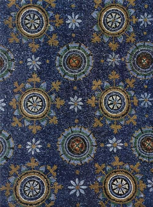 Mausoleum of Galla Placidia, Empress of the Western Roman Empire (mosaic detail) First half of 5th Century Ravenna School Italo-Byzantine Wo...