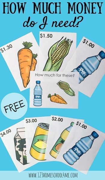 If your kids love playing shops here are some priced food items and addition task cards for younger children.   Created by Liz's Early Learning Spot for 123 Homeschool 4 Me!   I wish you happy teachin