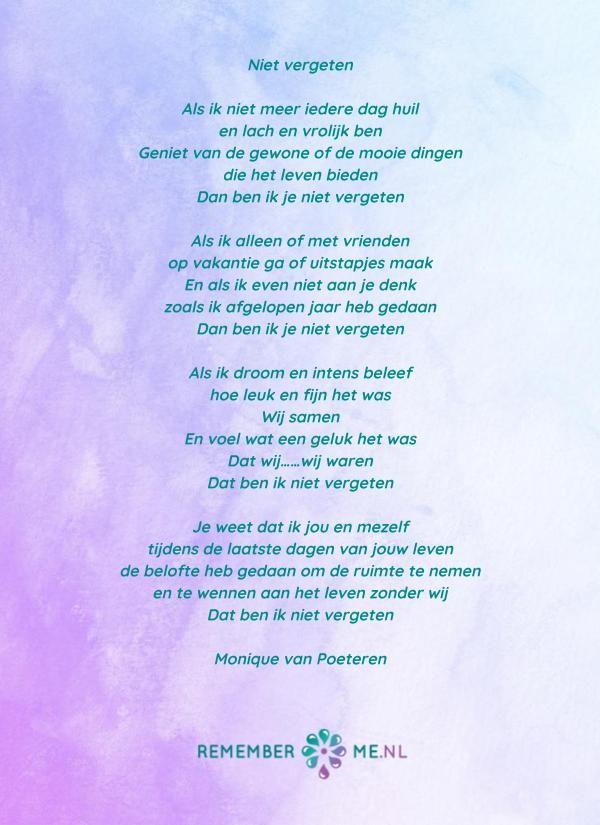 Ongebruikt Lees gedichten over rouw en verlies   Begrafenis gedichten JJ-78
