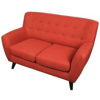 Shop For Porter Edie Pumpkin Orange Mid Century Modern Loveseat. Get Free  Delivery At · Online Furniture StoresLoveseatsPumpkinsMid Century