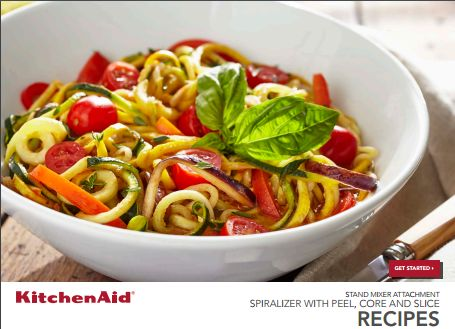 KitchenAid Spiralizer Recipe book PDF