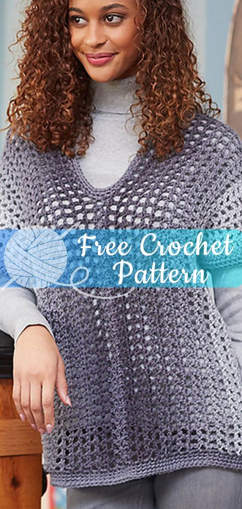 94478b40455fa Two-Rectangle Sweater  CROCHET FREE PATTERNS   freecrochetpatterns  crochet   freecrochet  easycrochet  diycrochet  patternsfree  crochet2  croche ...