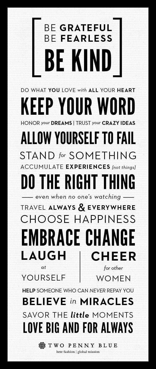 Our Manifesto #2pennyblue #manifesto #inspiration