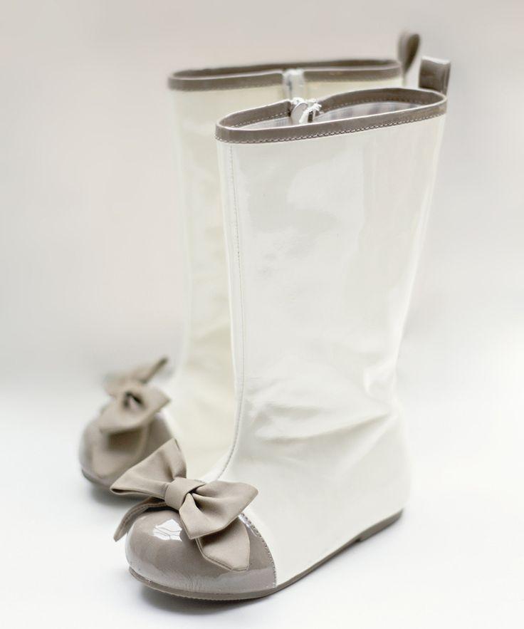 Latte & Cream Maci Spectator Boot - Girls//
