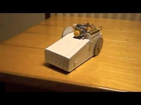 かんばこうじのおもしろ工作 落ちない車 (motorized)