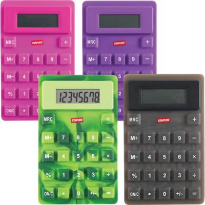 Staples Flexi calculator - perfect for my $5 rewards coupon!