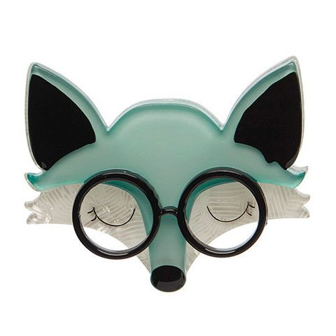 """Erstwilder Limited Edition Emry the Asleep Fox Brooch. """"Emry's wisdom is just this... There is a time for many words and there is also a time for sleep."""""""
