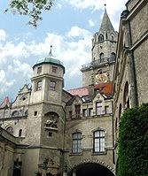 Sigmaringen Castle the Hohenzollerns family palace on the Danube in Germany's Black Forest