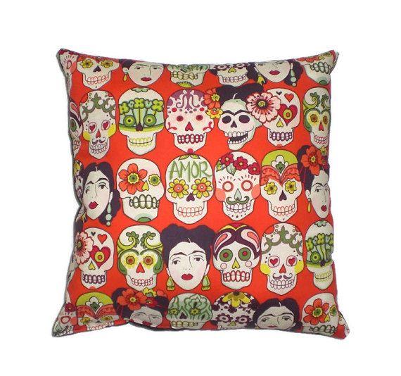 Frida mexikanische Kunst Dekorative Throw Pillow Home von AllegraB