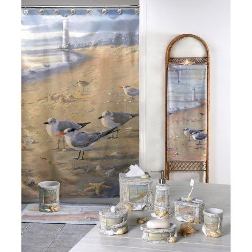 41 best images about nautical beach bathroom and decor on for Beach themed bathroom sets