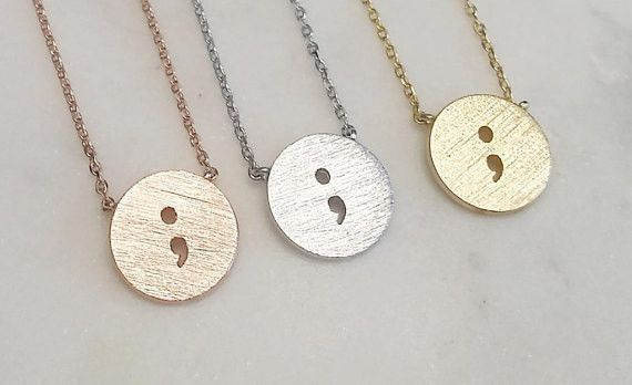 Semicolon Necklace - Your Story Isn't Over Yet