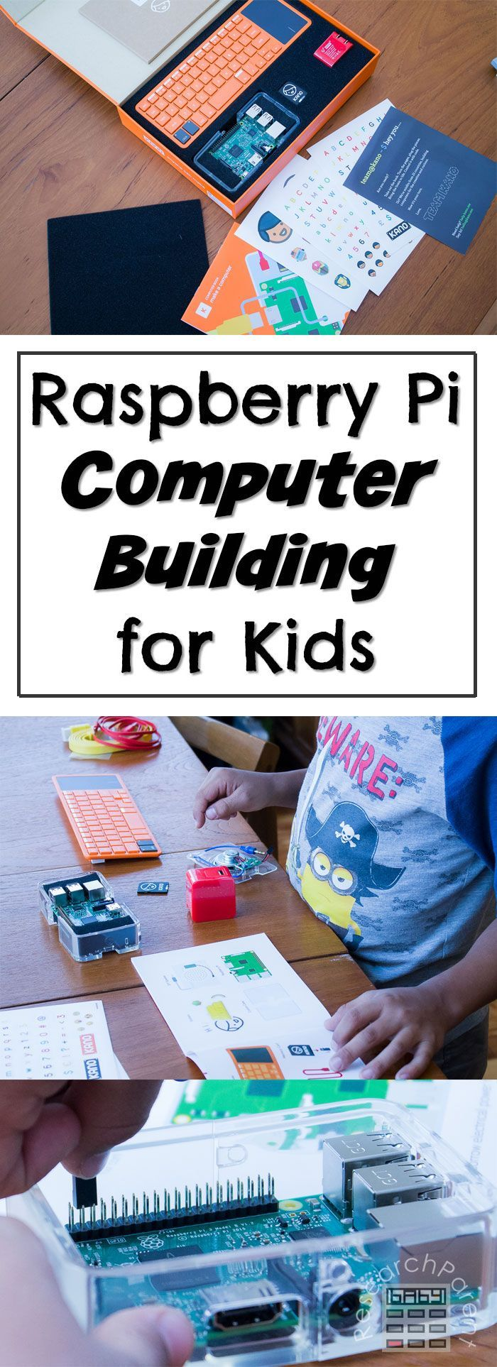 Learn how to make a simple, inexpensive Raspberry Pi computer using a Kano Computer Kit for kids.  via @researchparent
