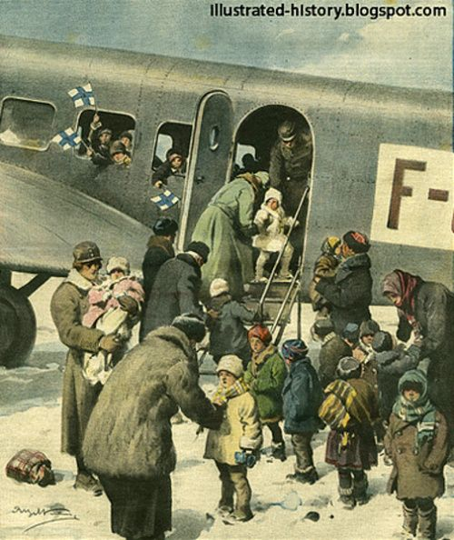 Children Airplanes (Finnish Children In Wartime) Achille Beltrame (1871 – 1945, Italian)
