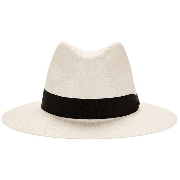 Rag & Bone Women's White Panama Hat ($230) ❤ liked on Polyvore featuring accessories, hats, fedora, white, brimmed hat, straw fedora hat, fedora hat, white fedora and white brim hat