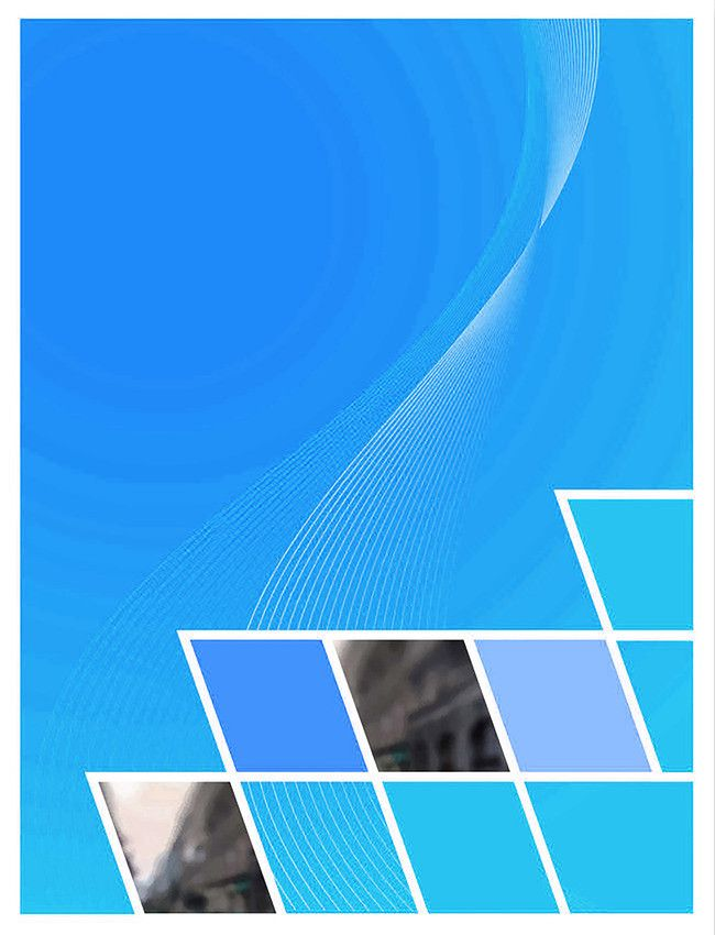 brochure cover creative blue background