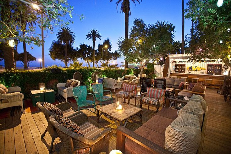 The Bungalow bar | Santa Monica, inside the Fairmont Hotel. Great place to relax, socialize and watch the sky change colors as the sun sets.