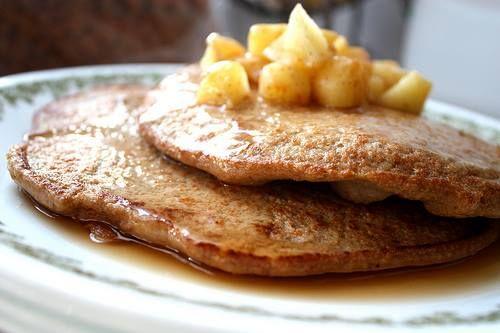 Apple Fritter Oatmeal Pancake