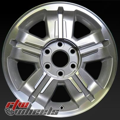 """Chevy Avalanche wheels for sale 2007. 18"""" Machined rims 5300 - http://www.rtwwheels.com/store/shop/18-chevy-avalanche-wheels-for-sale-machined-silver-5300/"""