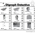 Digraph Detective is an early literacy learning activity. Students identify the digraph (ch, sh, th) to complete the word.