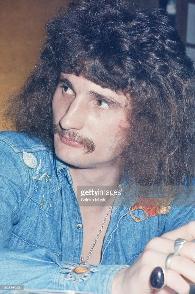 Uriah Heep David Byron at press conference on their visit to Japan, Tokyo, March 1973.