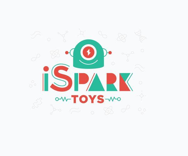 i-spark-toys-logo-design