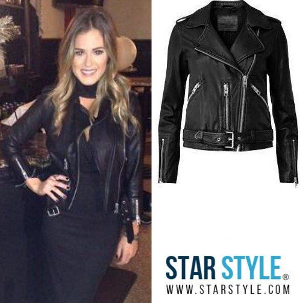 JoJo Fletcher wearing an AllSaints jacket - Use code: CYBER for 30% off everything @liketoknow.it http://liketk.it/2pID8 #liketkit #allsaints #jojofletcher #cybermonday