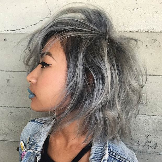 """21 Stunning Grey Hair Color Ideas and Styles 21 Stunning Grey Hair Color Ideas and Styles     It has become one of the most unusual of trends but grey or silver hair seems to have become a bit of a """"thing"""" recently. Once upon a time women we"""