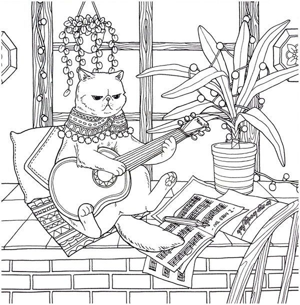 Cat Coloring Therapy Coloring Book Download In 2020 Cat Coloring Book Coloring Books Dog Coloring Page