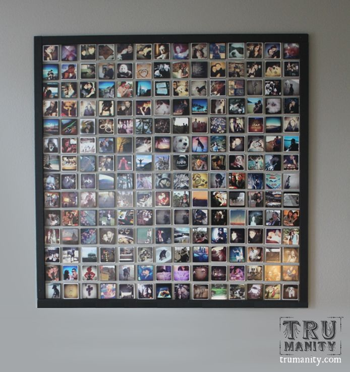This instagram wall was created by http://trumanity.wordpress.com. Very cool!