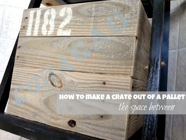 turn a pallet into a storage crate