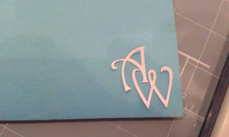 Invitacion con iniciales boda