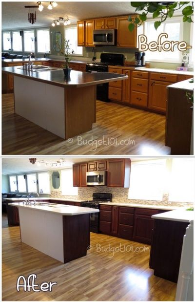 Diy kitchen transformation dirt cheap for Cheapest way to redo kitchen cabinets
