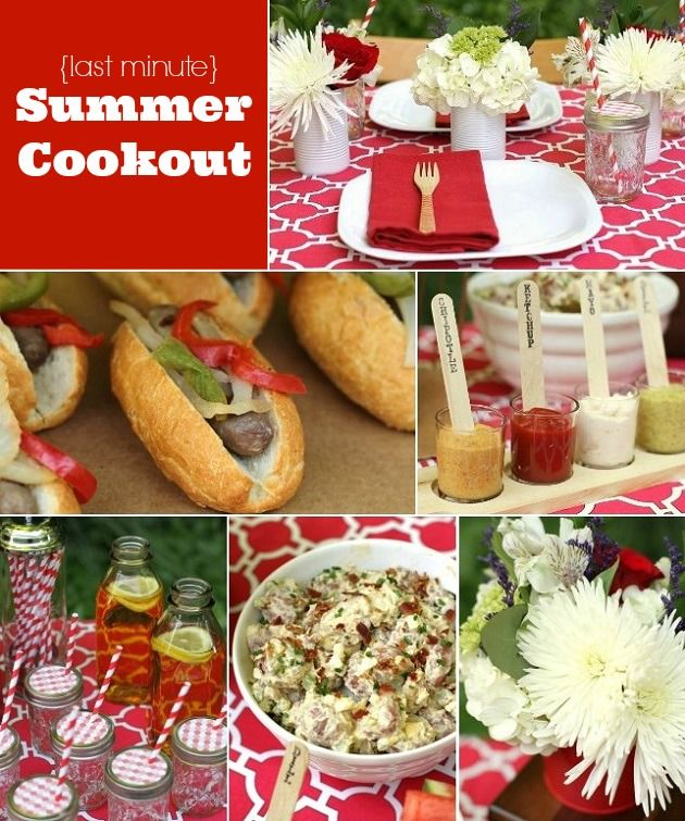 Our Last Minute Summer Cookout + Recipes