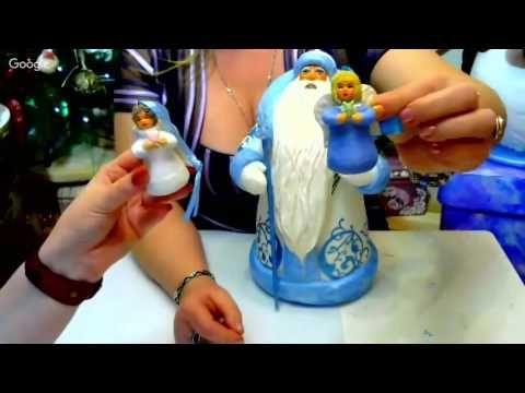Елена Васько. ватная игрушка- Ангел. - YouTube